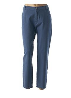 Pantalon 7/8 bleu MARBLE pour femme