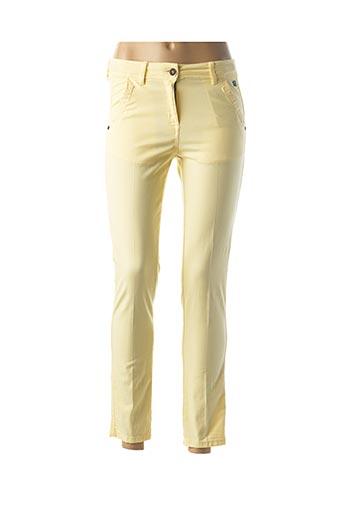Pantalon 7/8 jaune ELLE EST OU LA MER pour femme