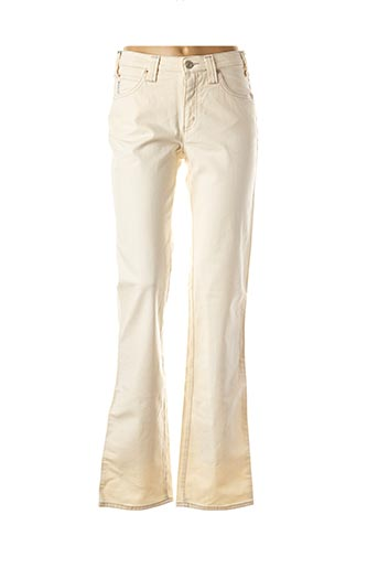 Jeans coupe droite beige ARMANI pour femme
