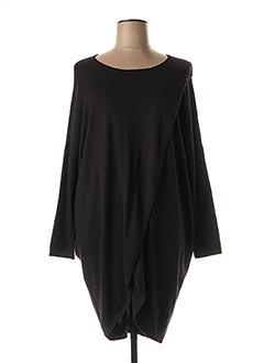 Pull tunique noir ADIA pour femme