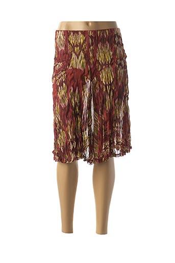 Jupe mi-longue orange DECA pour femme