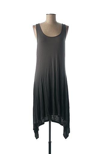 Robe mi-longue gris DECA pour femme