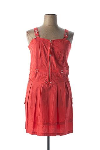 Robe mi-longue rouge DECA pour femme