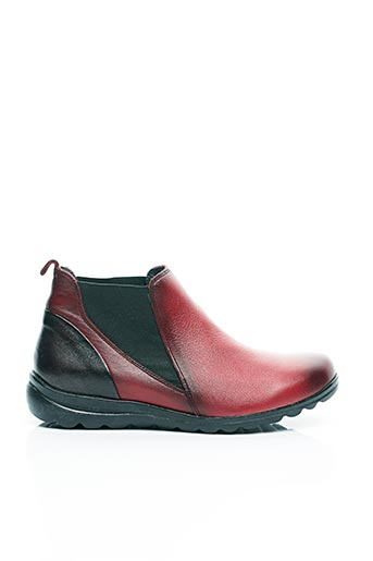 Bottines/Boots rouge BAERCHI pour femme