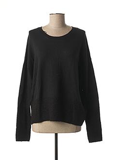 Pull col rond noir EDC BY ESPRIT pour femme