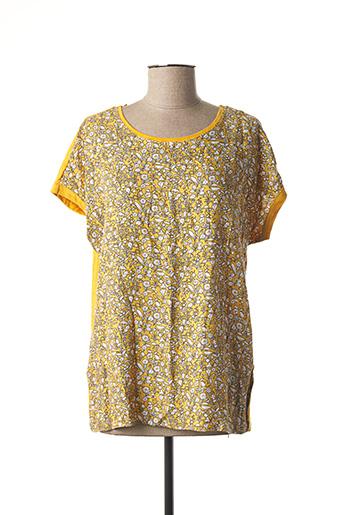 T-shirt manches courtes jaune ESPRIT pour femme