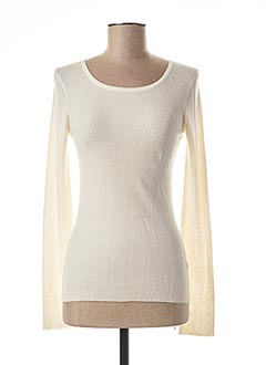 Pull col rond blanc FUEGO WOMAN pour femme