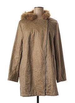 Manteau court beige FRED SABATIER pour femme