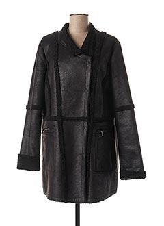 Manteau court noir ANANKE pour femme
