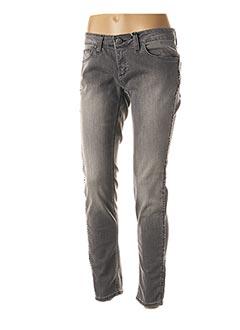 Jeans skinny gris RINASCIMENTO pour femme