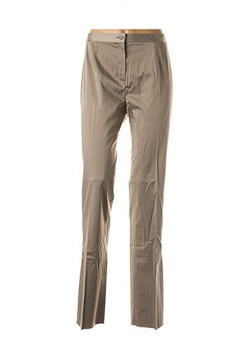 Pantalon chic gris ELENA MIRO pour femme