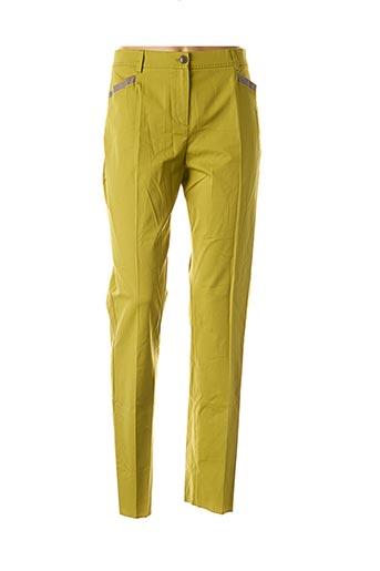 Pantalon chic vert ELENA MIRO pour femme