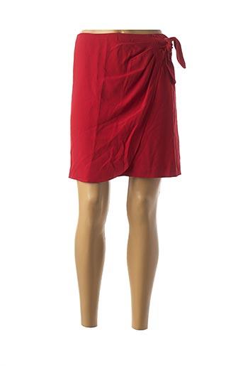 Jupe courte rouge TARA JARMON pour femme
