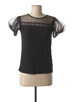 T-shirt manches courtes noir NAF NAF pour femme