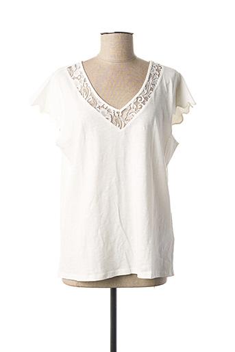 T-shirt manches courtes blanc NAF NAF pour femme