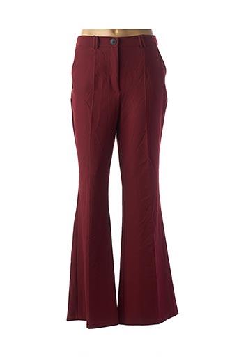 Pantalon casual rouge BERSHKA pour femme