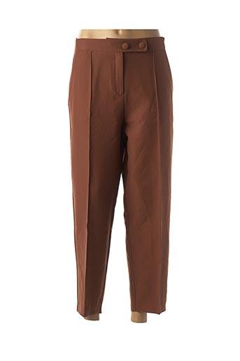 Pantalon casual marron BGN pour femme