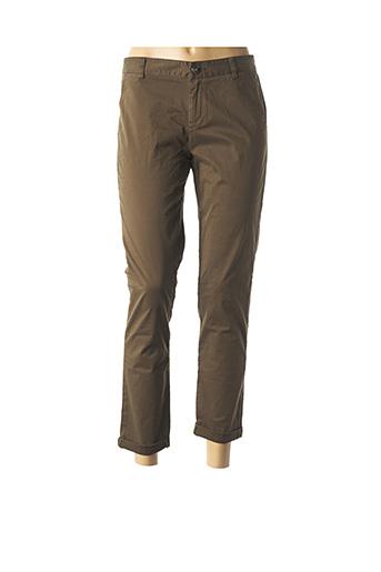 Pantalon casual vert DDP pour femme