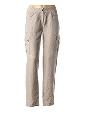 Pantalon casual beige ZAPA pour femme seconde vue