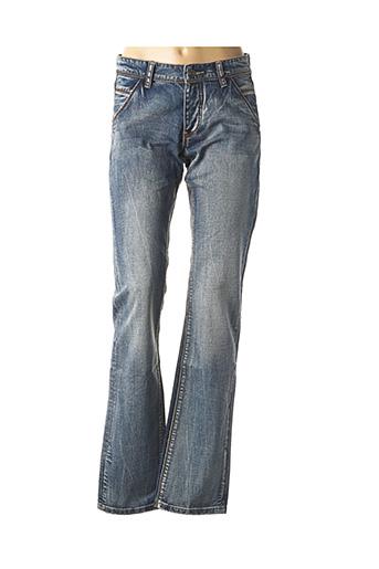 Jeans coupe droite bleu CARNET DE VOL pour homme