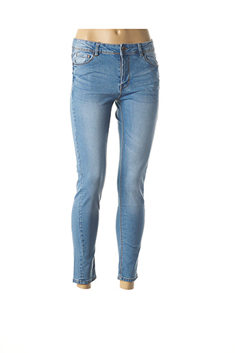 Pantalon 7/8 bleu FIFTY pour femme