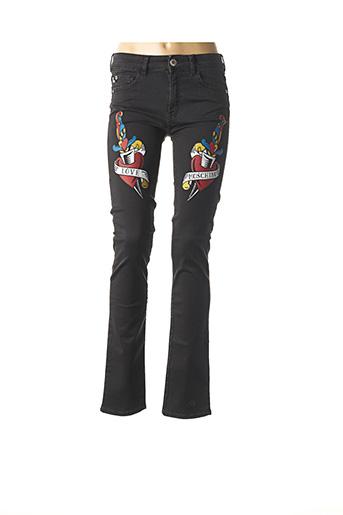 Pantalon casual noir LOVE MOSCHINO pour femme