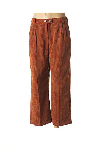 Pantalon 7/8 orange BERSHKA pour femme