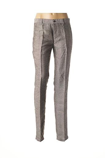 Pantalon chic gris CARNET DE VOL pour femme