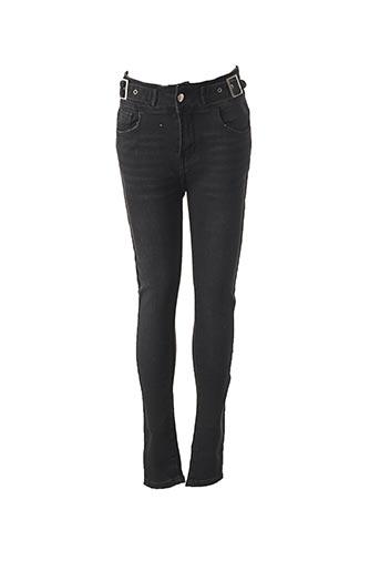 Jeans coupe slim noir COLLECTION IRL pour femme