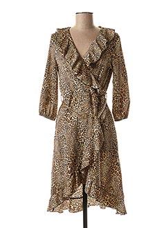 Robe mi-longue marron RINASCIMENTO pour femme
