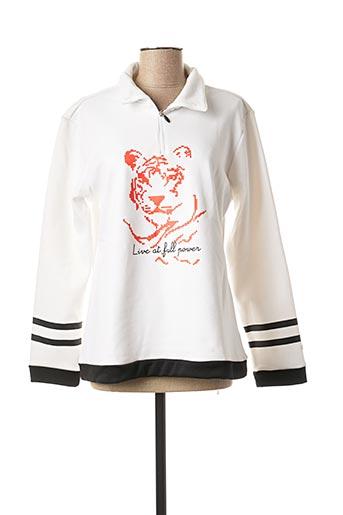 Sweat-shirt blanc ICEPEAK pour femme