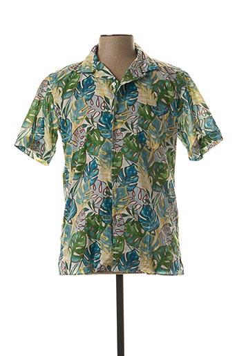 Chemise manches courtes vert HARTFORD pour homme
