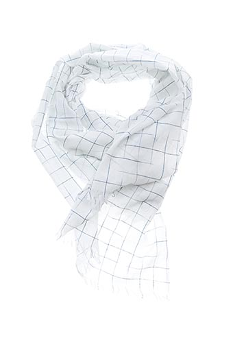 Foulard blanc STONE pour femme
