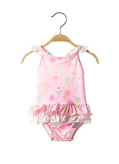 Maillot de bain 1 pièce rose SUNUVA pour fille