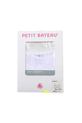 Brassière blanc PETIT BATEAU pour fille