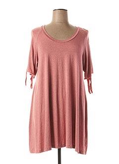 T-shirt manches courtes rose EXELLE pour femme