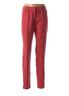 Pantalon chic rouge JEAN GABRIEL pour femme