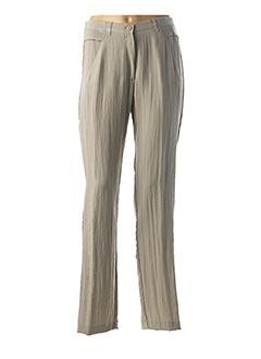 Pantalon chic vert JEAN GABRIEL pour femme