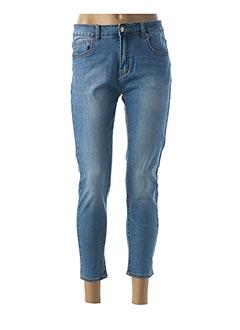 Pantalon 7/8 bleu COLORFUL pour femme