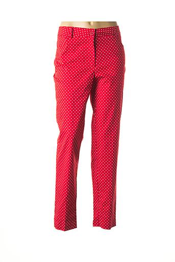 Pantalon 7/8 rouge ELEONORA AMADEI pour femme