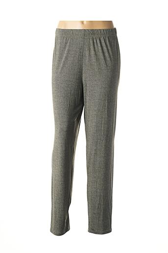 Pantalon casual gris GEVANA pour femme