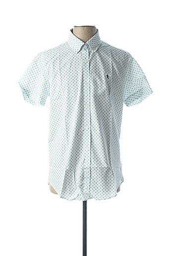 Chemise manches courtes vert CAMBERABERO pour homme