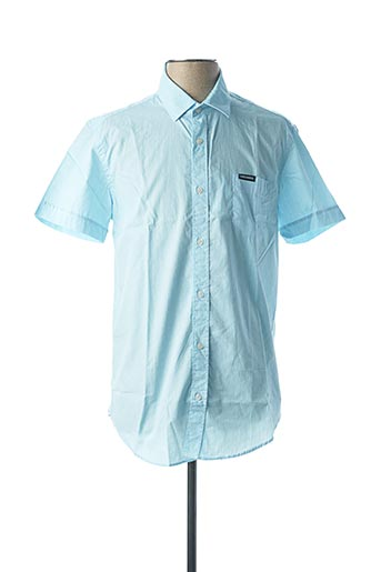 Chemise manches courtes bleu CAMBERABERO pour homme