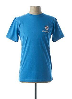 T-shirt manches courtes bleu CAMBERABERO pour homme