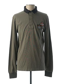 Polo manches longues vert CAMBERABERO pour homme