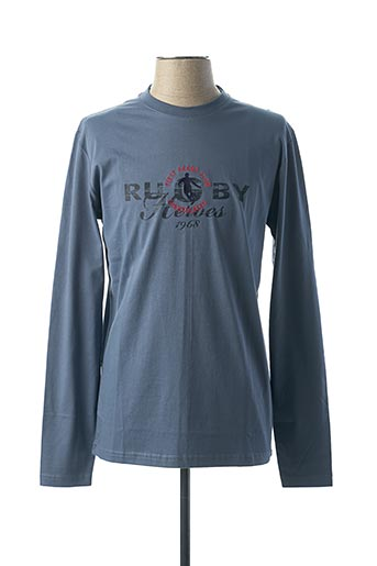 T-shirt manches longues bleu CAMBERABERO pour homme