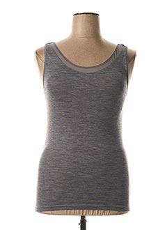 Top/Caraco gris FEMILET pour femme