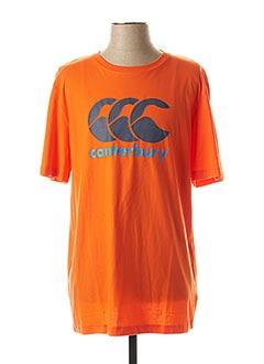 T-shirt manches courtes orange CANTERBURY pour homme