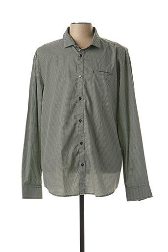 Chemise manches longues vert NO EXCESS pour homme