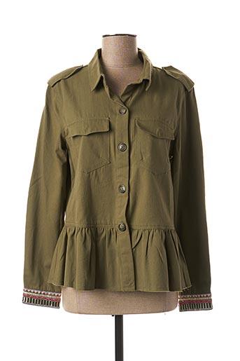 Veste casual vert B.YOUNG pour femme